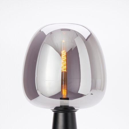 Tischlampe MAYSON Rauchglas schwarz