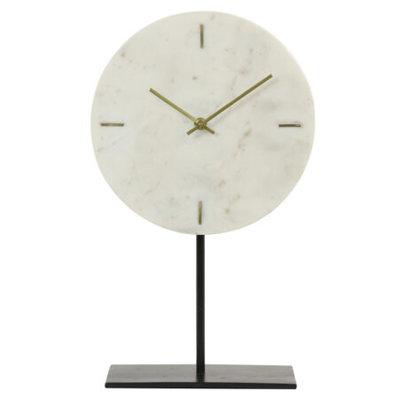 Tischuhr MORENO marmor weiß