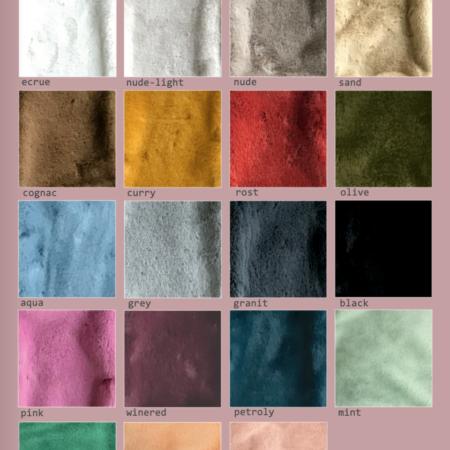 Plaid TENDER, in verschiedenen Farben - Webpelz von Carma