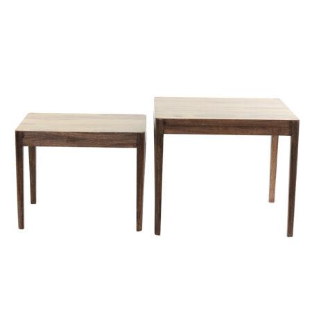 Beistelltisch STIJN Holz braun 2er Set