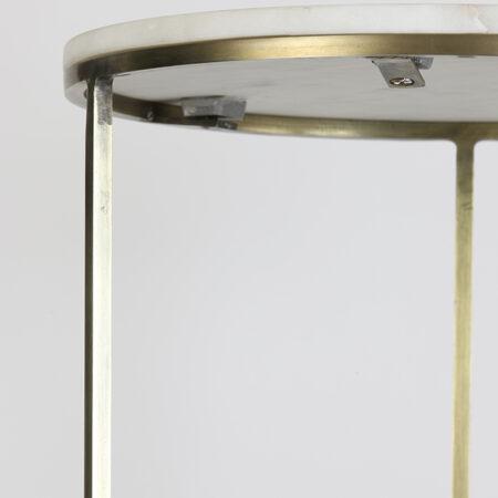 Säulen RICARDO weiss Marmor + antik Bronze 2er Set