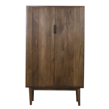 Schrank BITIKA Holz dunkel braun.