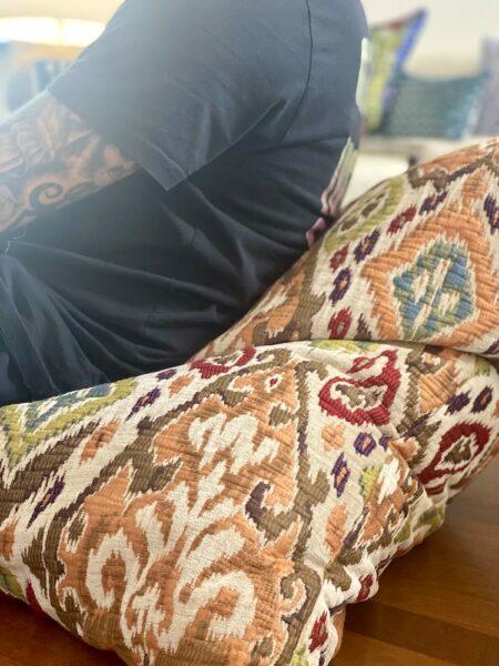 Bodenkissen Marokko beige, exklusives Sitzkissen von der Marke Carma
