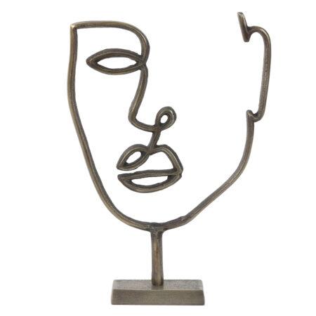 Skulptur Ornament FACE von Light & Living
