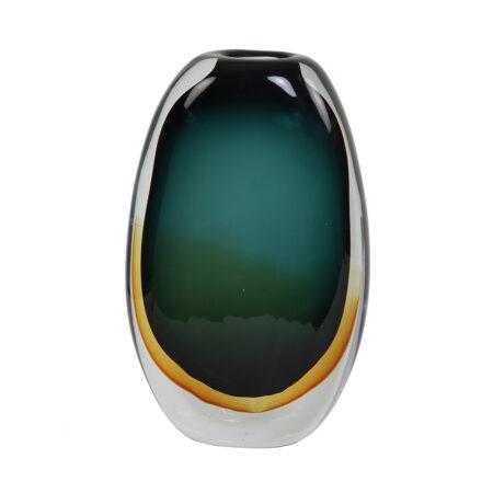 Vase CALLA Glas Turquoise - Bernstein 116x7x27 cm