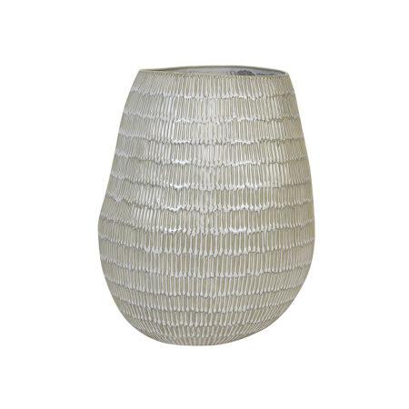 Vase GIORGIA keramik creme-beigeØ20,5x26 cm