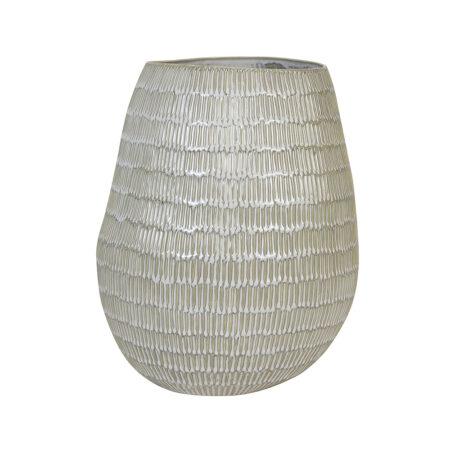 Vase GIORGIA keramik creme-beige Ø26x31,5 cm