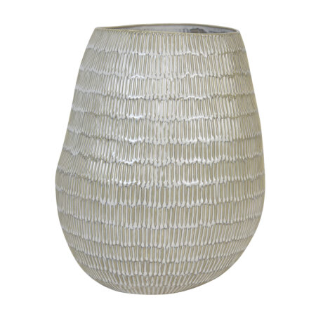 Vase GIORGIA keramik creme-beige Ø32x39,5 cm