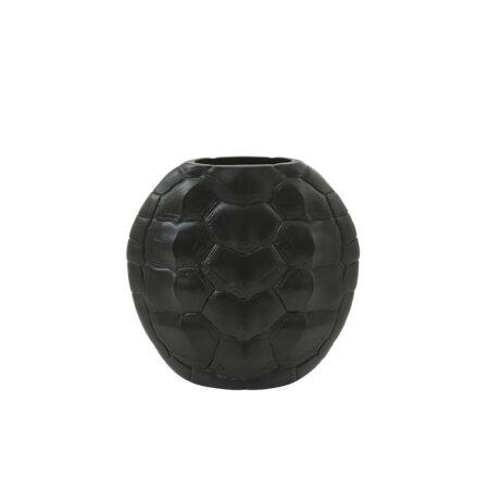 Vase TURTLE in matt schwarz 29,5x8x30 cm