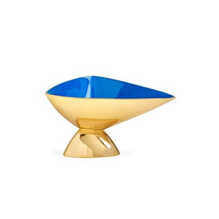 Dekoschale SMALL ANVIL blau + gold