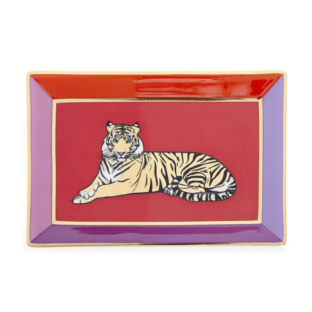 Dekoschale SAFARI RECTANGLE mit Tiger-Motiv