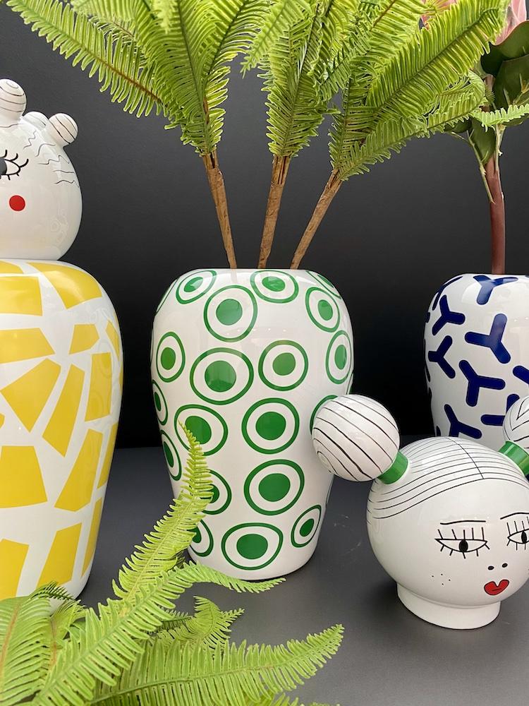 Vasen Kollektion CANOPIE, besondere Vasen mit Deckel von Seletti