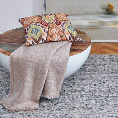 Plaid COMO rose, luxuriöse Decke aus Wolle und Alpaka von der Marke Carma