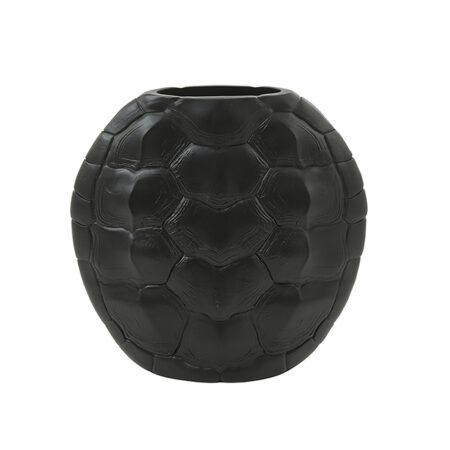Vase TURTLE in matt schwarz
