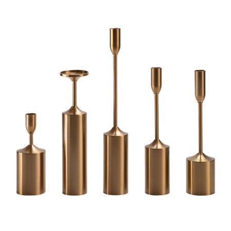 Kerzenhalter PENTA 5 tlg. Set in gold
